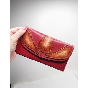 Embossed Mexican Leather Wallet